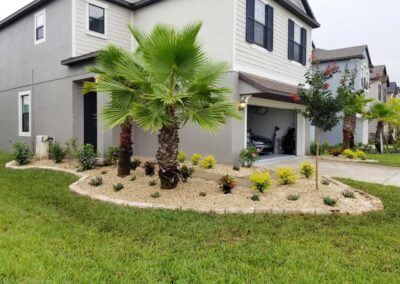 Landscaping at home entry